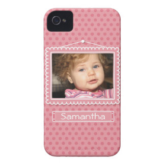 Cute picture frame with polkadots blackberry cases
