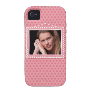 Cute picture frame with polkadots Case-Mate iPhone 4 covers