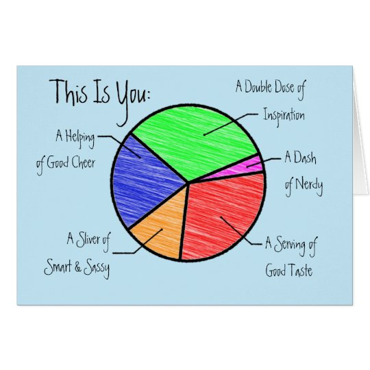 Cute Pie Chart Friends & Lovers Personalised Card