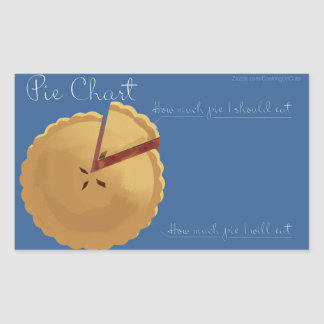 Cute Pie Chart Sticker! Rectangular Sticker