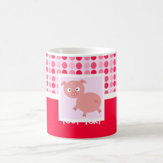 Cute Pig Basic White Mug