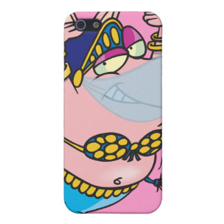 cute pig belly dancer cartoon character case for iPhone 5