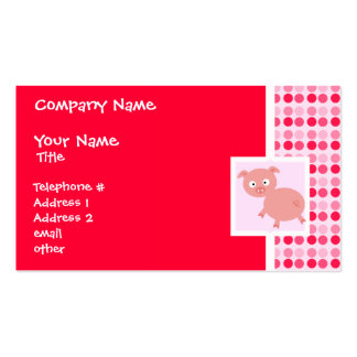 Cute Pig Business Card Template