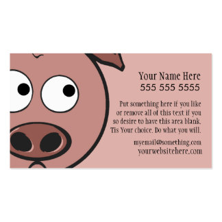 Cute Pig Business Card Templates