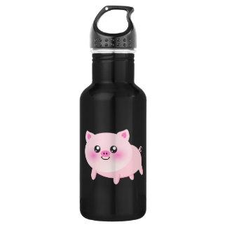 Cute pig cartoon 532 ml water bottle