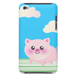 Cute pig cartoon barely there iPod case