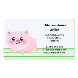 Cute pig cartoon business cards