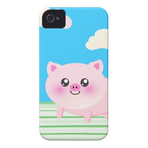 Cute pig cartoon blackberry cases