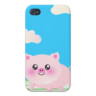 Cute pig cartoon case for iPhone 4