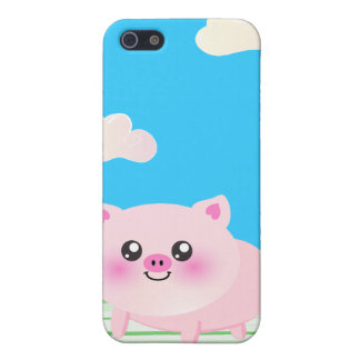 Cute pig cartoon case for the iPhone 5