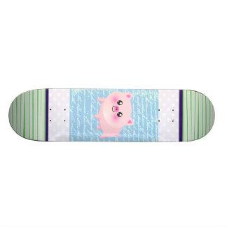 Cute pig cartoon custom skateboard