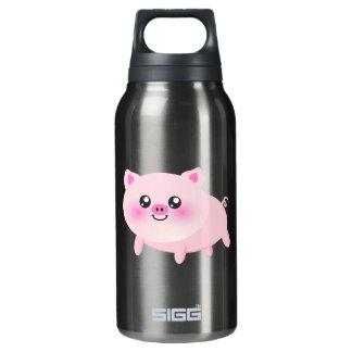 Cute pig cartoon insulated water bottle