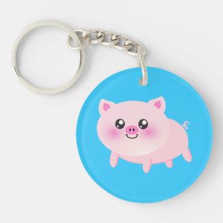 Cute pig cartoon keychain
