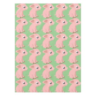Cute pig cartoon tablecloth