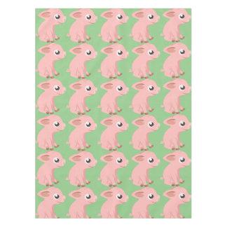 Cute pig cartoon tablecloth