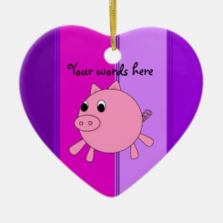 Cute pig christmas ornament