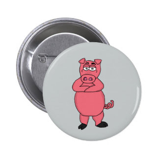 Cute pig design buttons and badges