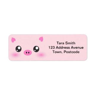 Cute Pig Face - kawaii minimalism