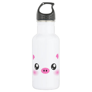 Cute Pig Face - kawaii minimalism 532 Ml Water Bottle