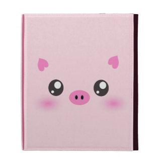 Cute Pig Face - kawaii minimalism iPad Case
