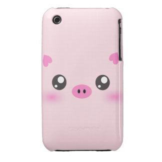 Cute Pig Face - kawaii minimalism iPhone 3 Case-Mate Case