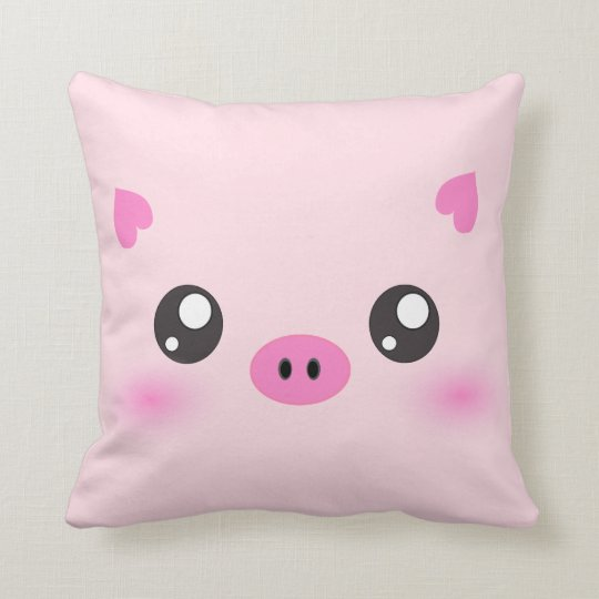Cute Anime Pig Face Throw Pillow