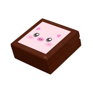 Cute Pig Face - kawaii minimalism Gift Box