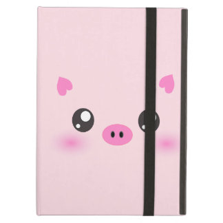 Cute Pig Face - kawaii minimalism iPad Air Cover
