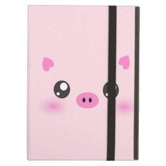 Cute Pig Face - kawaii minimalism iPad Air Cover