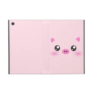 Cute Pig Face - kawaii minimalism Cases For iPad Mini