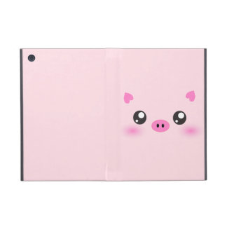 Cute Pig Face - kawaii minimalism iPad Mini Case