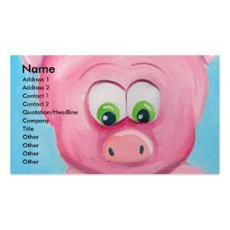 CUTE PIG FACE PACK OF STANDARD BUSINESS CARDS