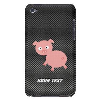 Cute Pig; Faux Carbon Fiber Case-Mate iPod Touch Case