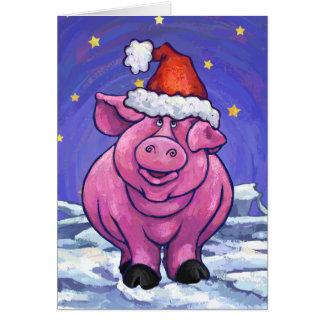 Cute Pig Holiday Card