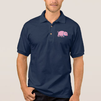 Cute Pig in a Bow Tie Polo Shirt