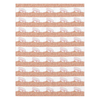Cute Pig in Mud Funny Watercolour Animal Art Tablecloth