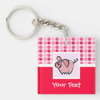 Cute Pig Acrylic Key Chains