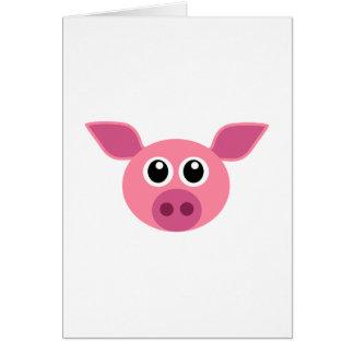 Cute Pig Piglet Card