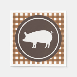 Cute pig roast party napkins paper napkin