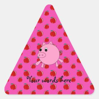 Cute pig triangle sticker