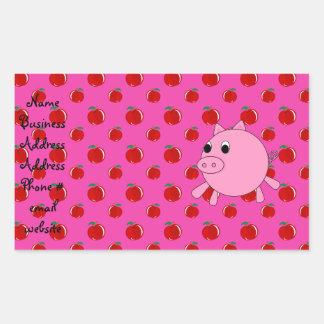Cute pig rectangular sticker