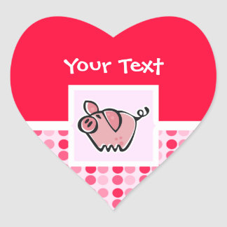 Cute Pig Heart Sticker