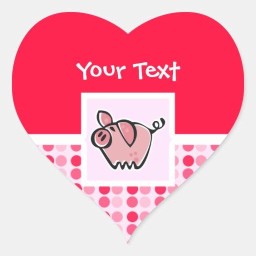 Cute Pig Heart Sticker