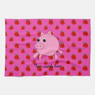 Cute pig tea towel