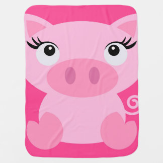 Cute Piggy baby blanket