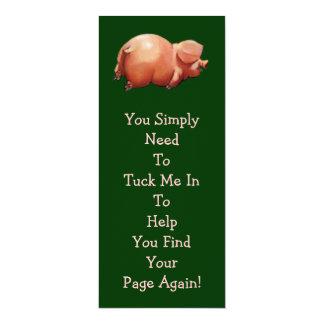 Cute Piggy BOOK MARK: Original Art: Rhyme 10 Cm X 24 Cm Invitation Card