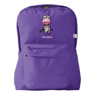 cute piggy chef backpack
