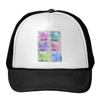 Cute Piggy Collage Mesh Hats