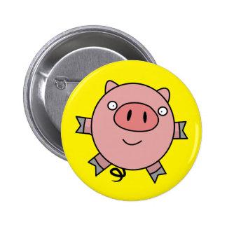 Cute Piggy jumps 6 Cm Round Badge