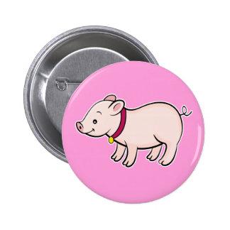 Cute Piggy Pink Button